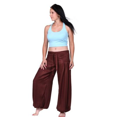 Trousers Segi Brown Rayon