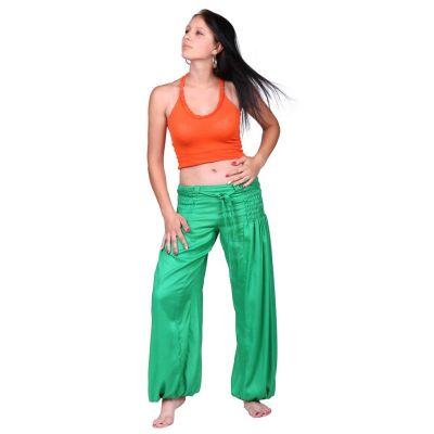 Trousers Segi Green Rayon