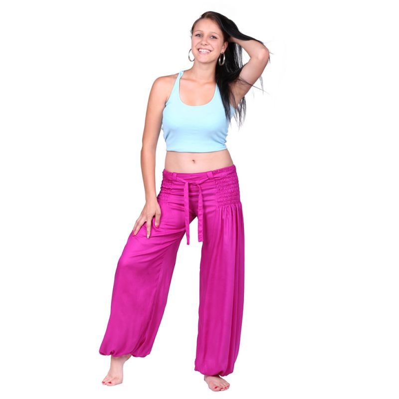 Trousers Segi Pink Rayon