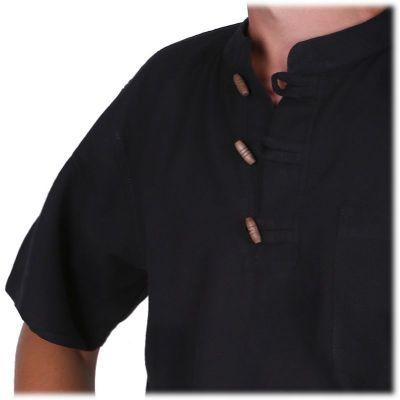 Kurta Pendek Hitam - men's shirt with short sleeves Nepal