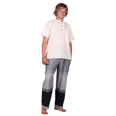 Kurta Pendek Putih - men's shirt with short sleeves Nepal