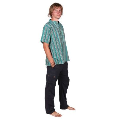 Kurta Pendek Harris – men's shirt with short sleeves Nepal
