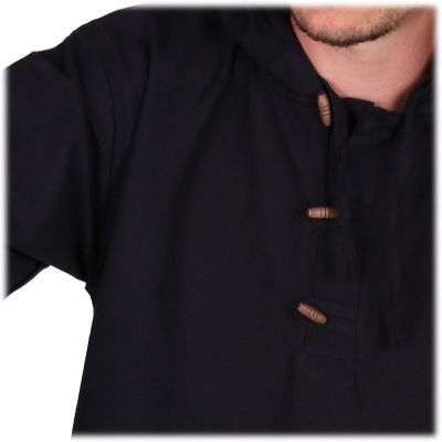 Kurta Ganet Hitam - men's long-sleeved shirt Nepal