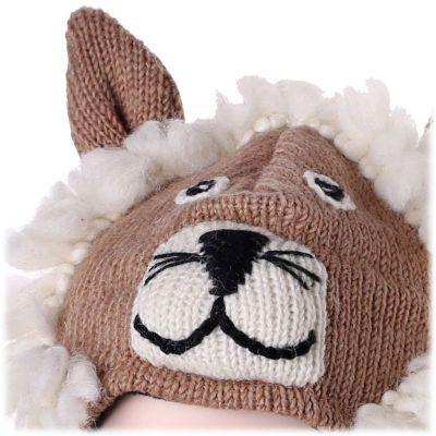 Woolen Hat Biege lion