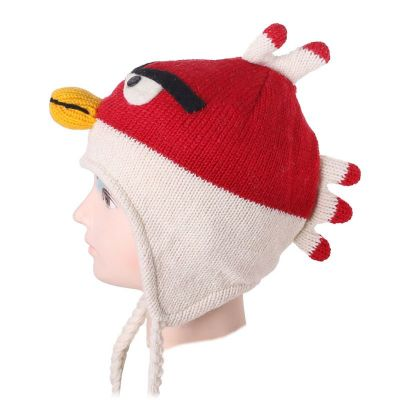 Woolen hat Angry Bird - white