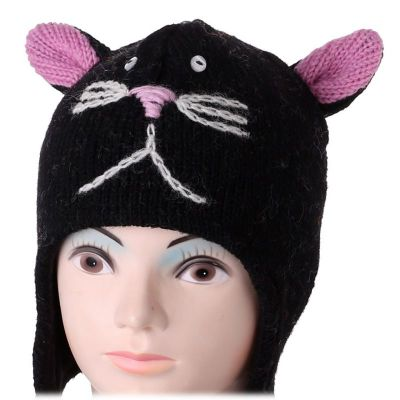 Woolen hat Black Cat