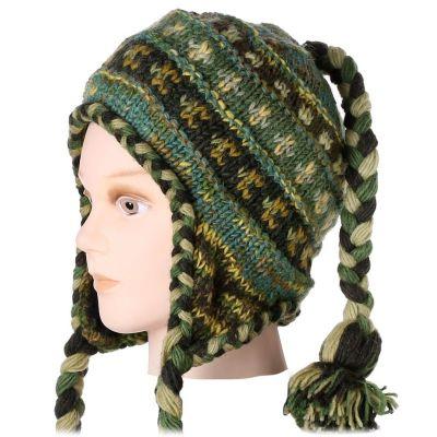 Woolen hat Manaslu Green