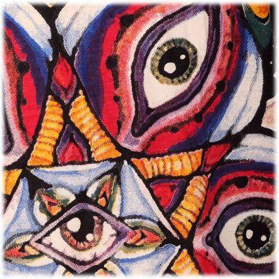Mirror t-shirt Eye Mandala Yellow