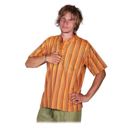 Kurta Pendek Astam - men's shirt with short sleeves Nepal