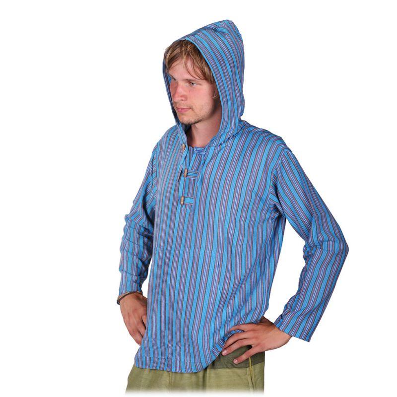 Kurta Ganet Pirus - men's long-sleeved shirt Nepal