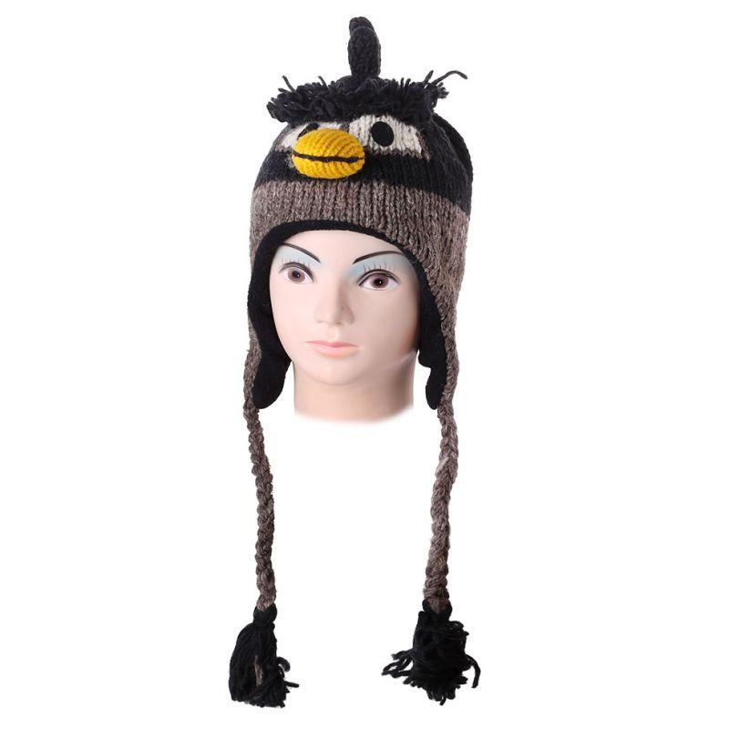 Woolen hat Angry Bird - black