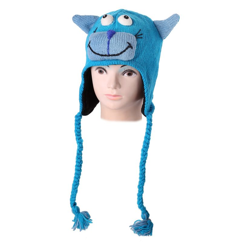 Woolen hat Turquoise Cat