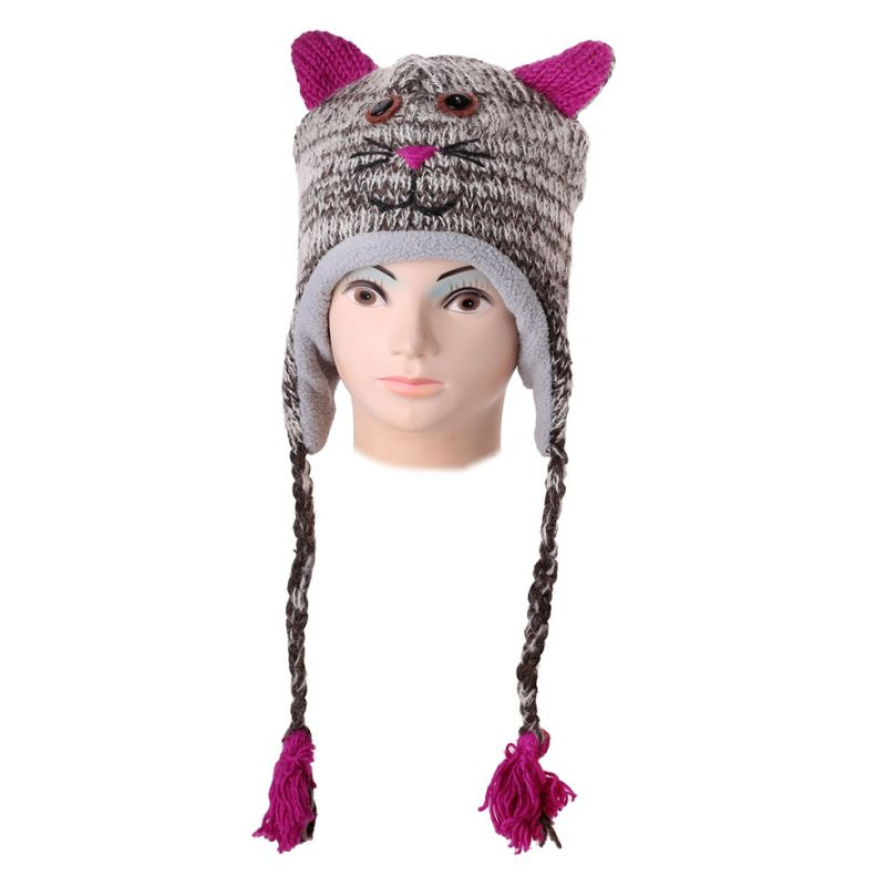 Woolen hat Tabby Cat