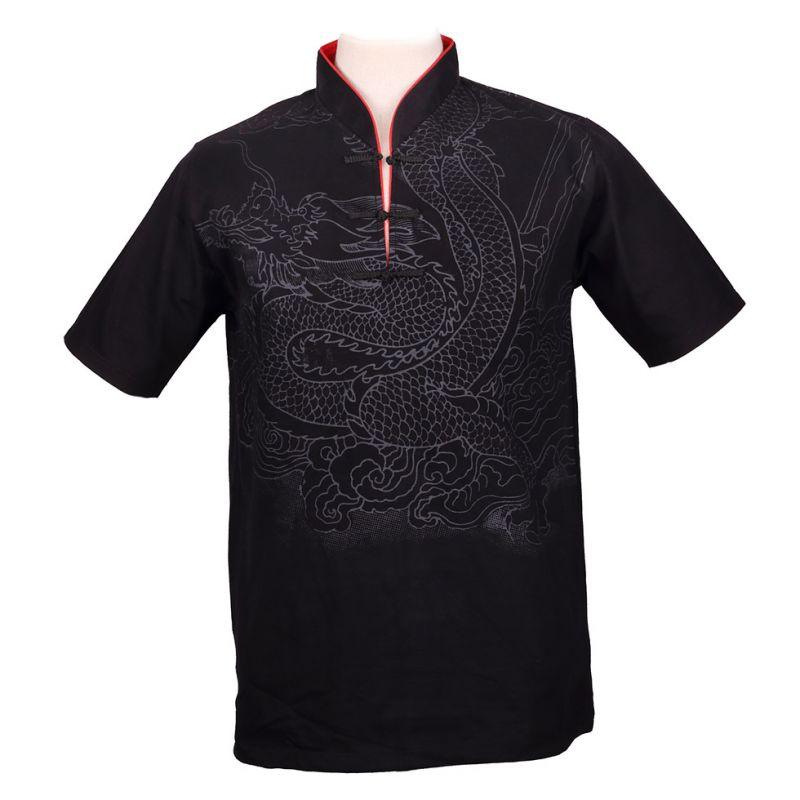 Oriental t-shirt Emperor Dragon Black