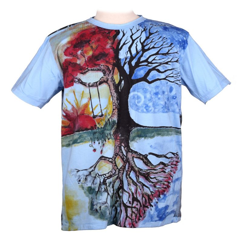 Mirror t-shirt Tree by a Lake