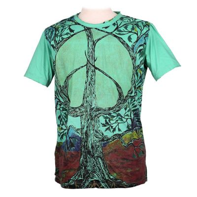 T-shirt Tree of Peace Turquoise