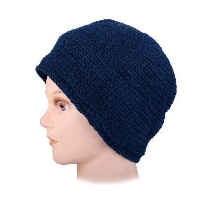 Woolen hat Arna Blue