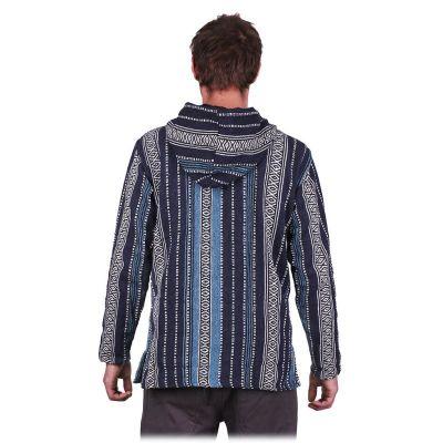 Men's ethnic jacket Besar Berat Blue Nepal