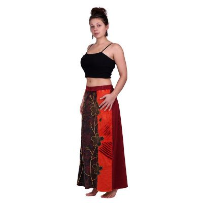 Long embroidered ethno skirt Surga Merah
