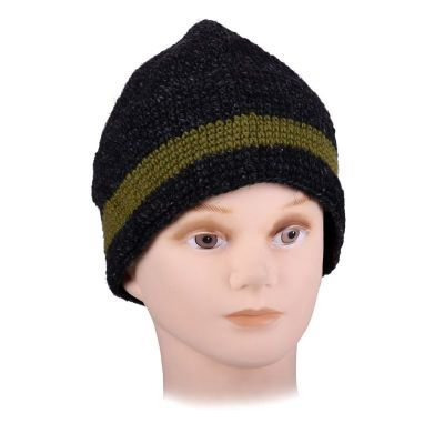 Hat Datar Green Stripe