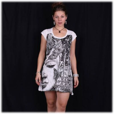 Dress (tunic) Sure Buddha's Butterflies White