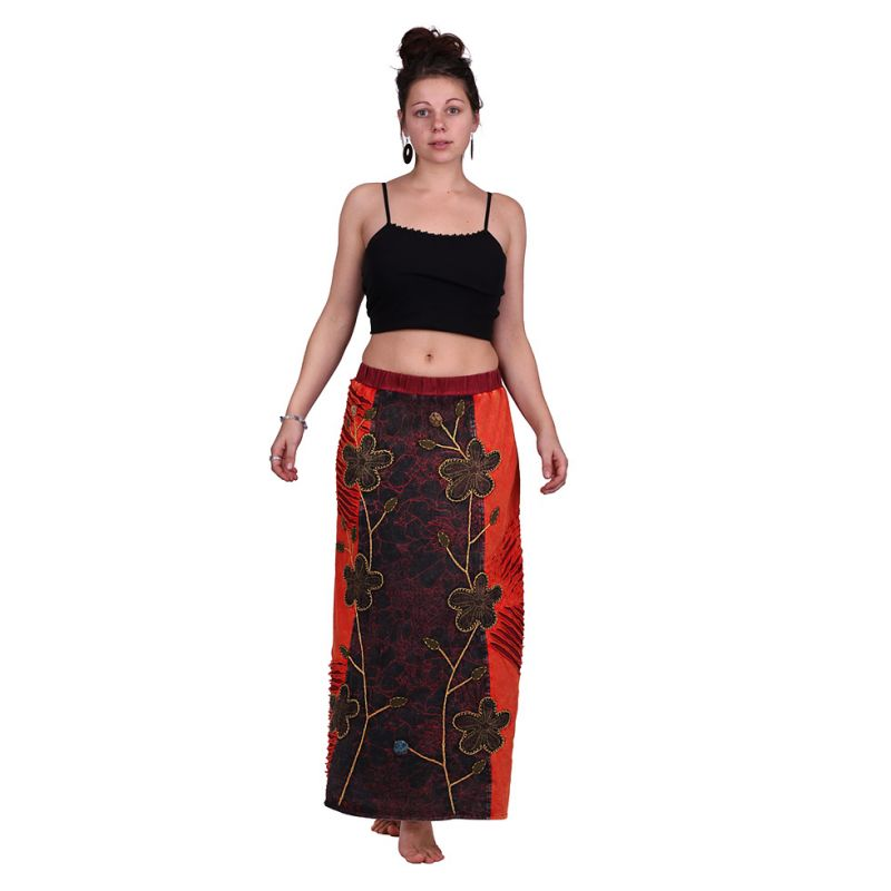 Long Skirt Surga Merah