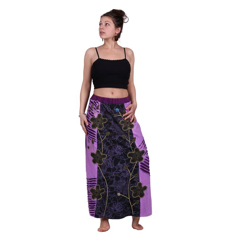 Long embroidered ethno skirt Surga Ungu