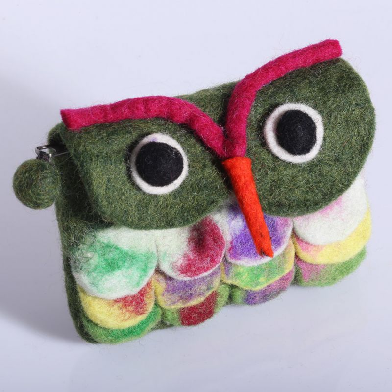 Little felt purse Owl