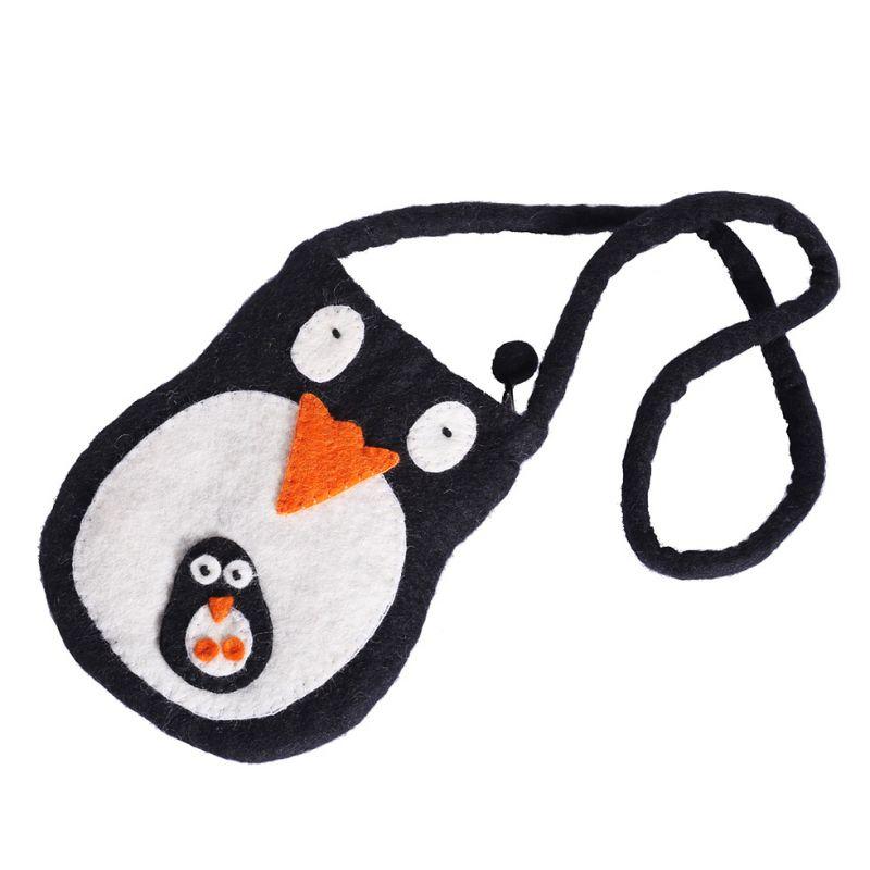 Felt handbag Penguin