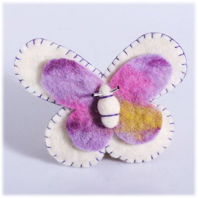 Brooch Butterfly White