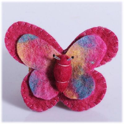 Brooch Butterfly Pink