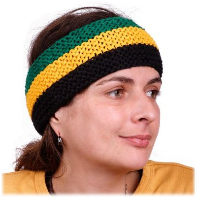 Headband Green-Yellow-Black