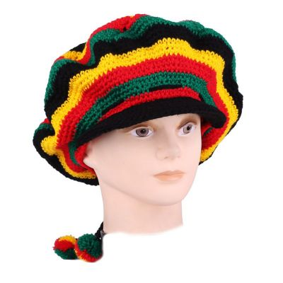 Beret Rasta Horizontal with a bill
