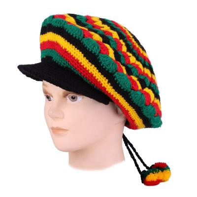 Beret Rasta Waves with a bill
