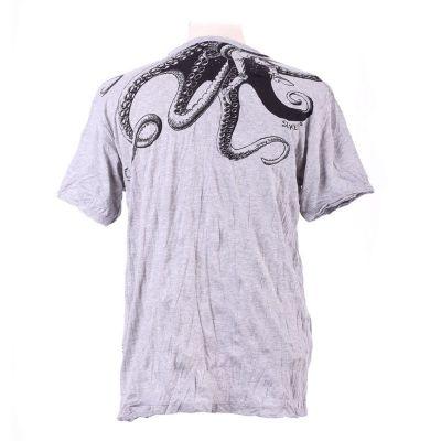 Men's t-shirt Sure Octopus Attack Grey