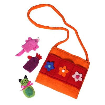 Felt children's handbag Animals Orange