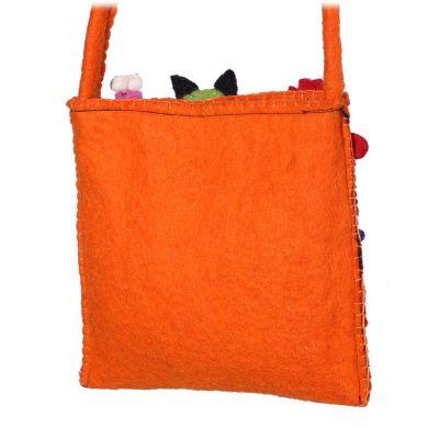 Felt children's handbag Animals Orange