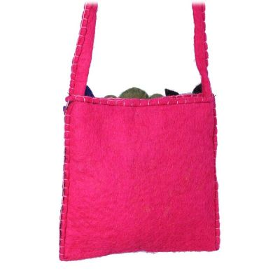 Felt children's handbag Animals Pink
