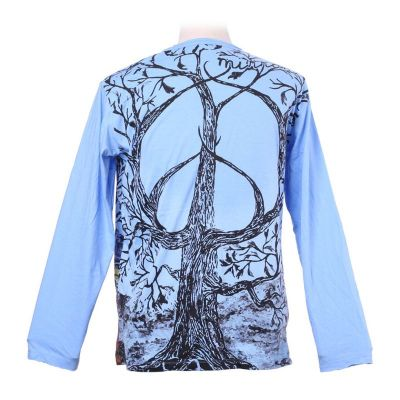 Mirror T-shirt with long sleeves - Tree of Peace Blue