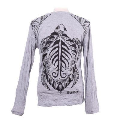 Men's t-shirt Sure with long sleeves - Turtle Grey