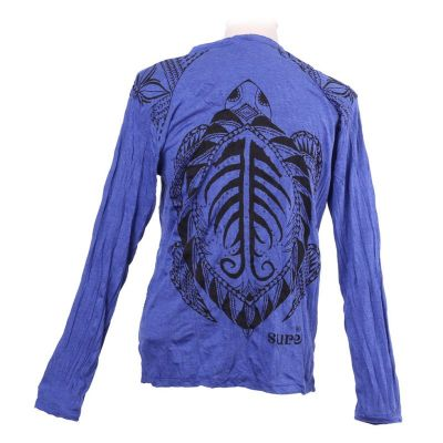 Men's t-shirt Sure with long sleeves - Turtle Blue