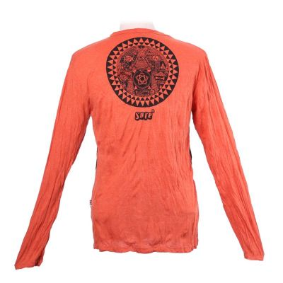 Men's t-shirt Sure with long sleeves - Pyramid Orange