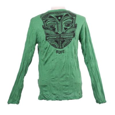 Men's t-shirt Sure with long sleeves - Khon Mask Green