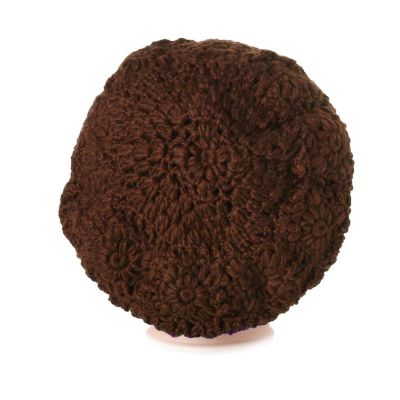 Crocheted beret Laras Brown