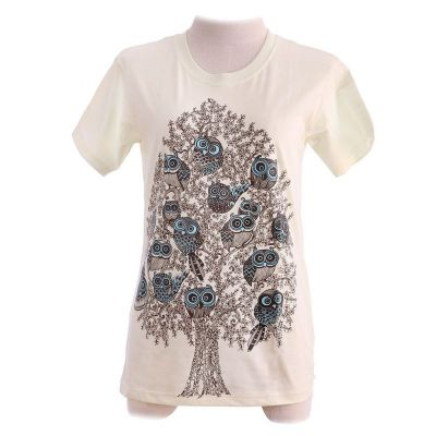T-shirt Owl Assembly Light Yellow