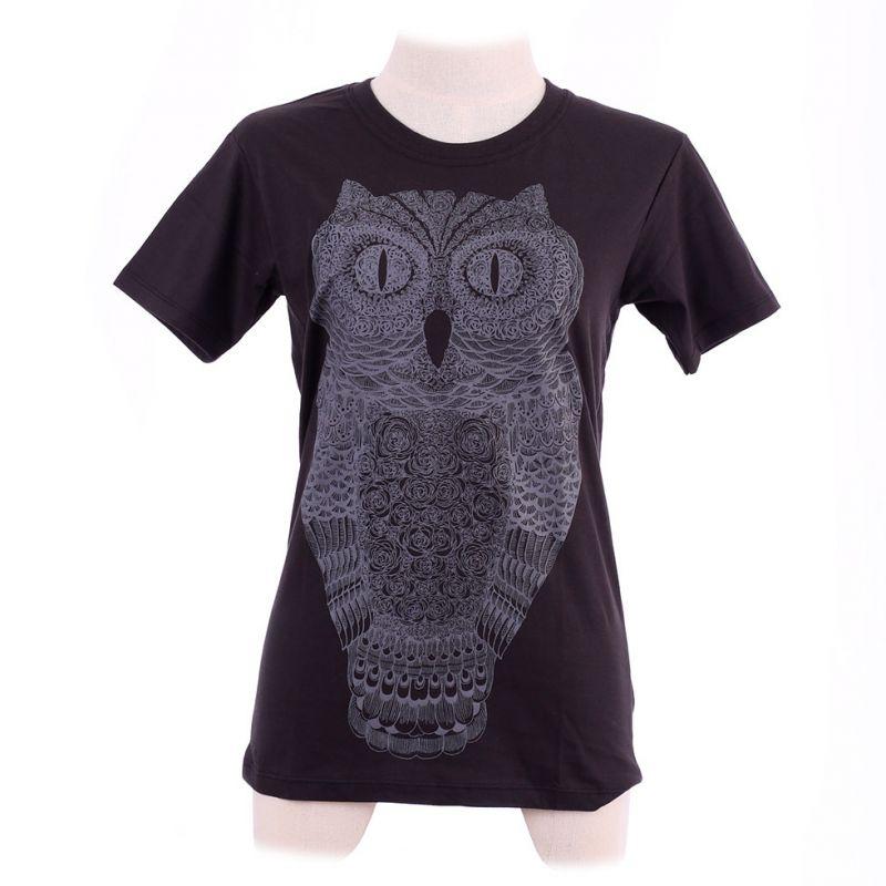 Women's t-shirt Big Owl Black