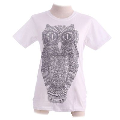 T-shirt Big Owl White