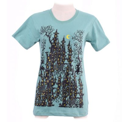 T-shirt Haunted Castle Green