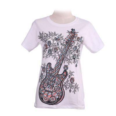 T-shirt Guitar White