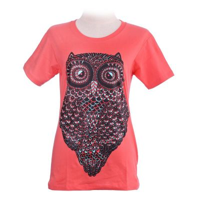 T-shirt Big Owl Pink